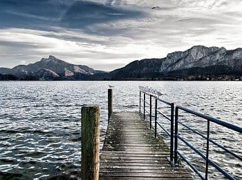 na jezeře s rackama