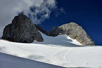Mravenci na červencové túře. Dachstein - Alpy 5.7.2017