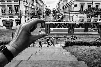 Tram in hand