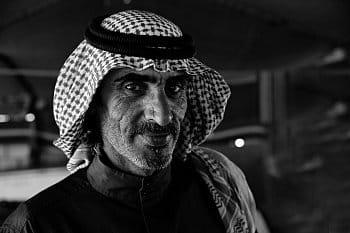 Z očí do očí (beduín z pouště Vádí Ram)