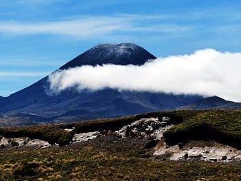 Sopka a její šál