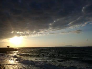 Západ slunce v Řecku