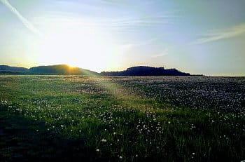Západ slunce na Šumavě
