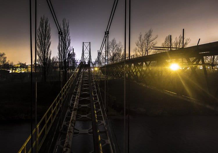 Pohled z pilíře mostu