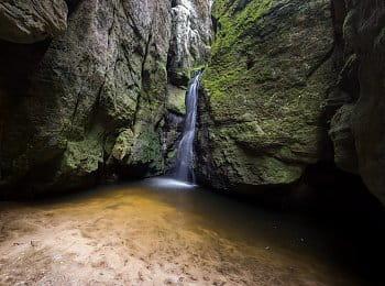 Malý vodopád, Adršpach
