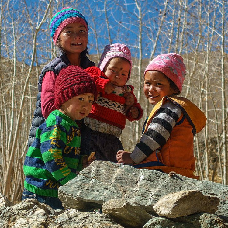 Děti z vesnice Amnu - Zanskar