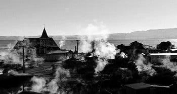 Život v oblacích páry  po celý rok město -  Rotorua NZ