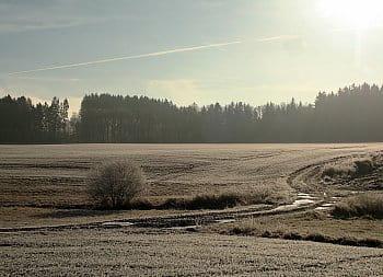Zmrzlá krajina ve Studeném