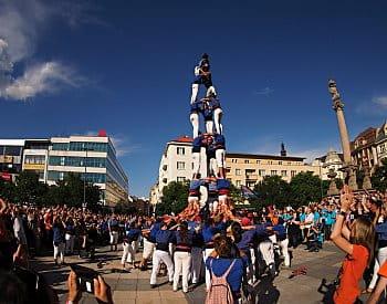 Castellers, lidská věž v Ostravě