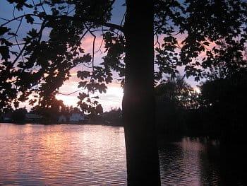 Západ slunce u nás
