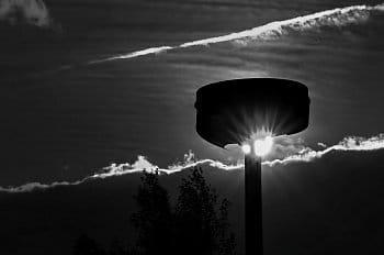 Poslední svit staré lampy
