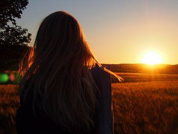 Západ slunce na venkově