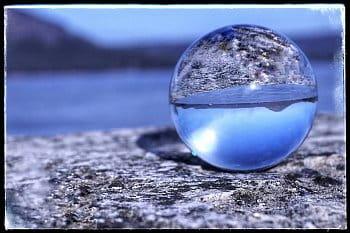 Máchovo jezero ve skle
