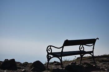 Ještědská lavička.