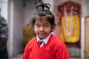 Indická školačka