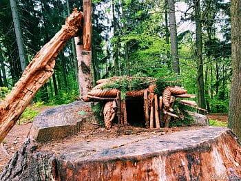 Malý domek v lese pro malé lesnické obyvatele