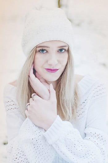 první zimní portrét