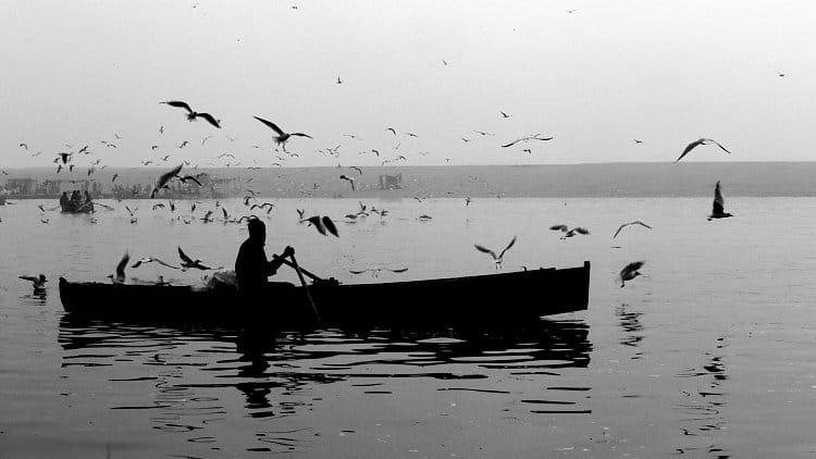 Ráno na řece Ganze