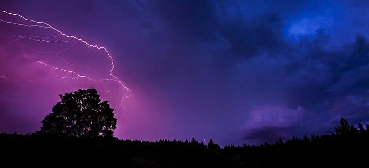 Bouřka v Brdech