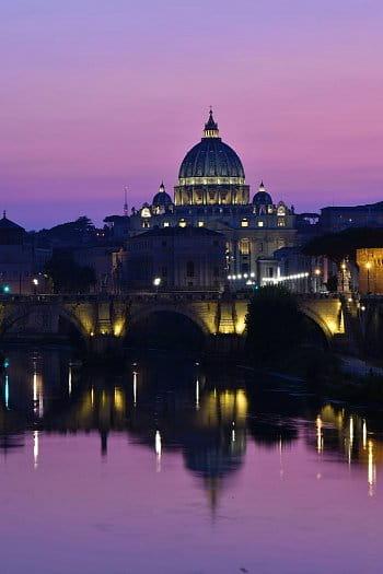 Západ slunce nad Římem