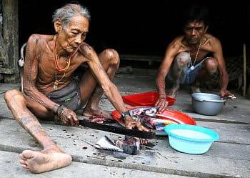 Příprava večeře po mentawajsku ...