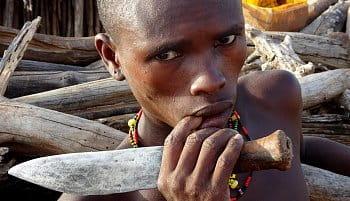 Muž z kmeňa hamar, Etiópia