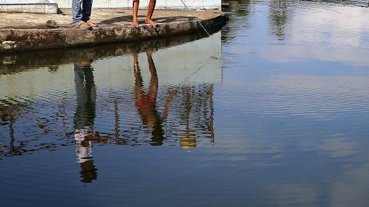 Ráno u jezera Maninjau