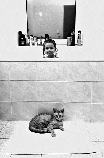 V koupelně