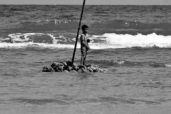Chlapec a moře