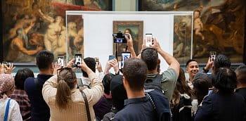 Když se fotí Mona Lisa