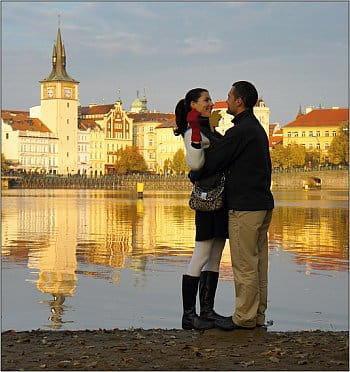 Podzim na břehu Vltavy