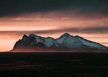 Západ slunce za Vestrahornem