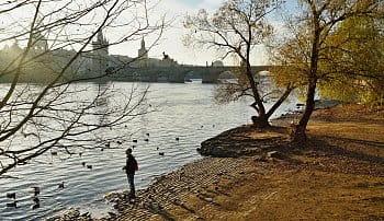 Ranní rozjímání u Vltavy
