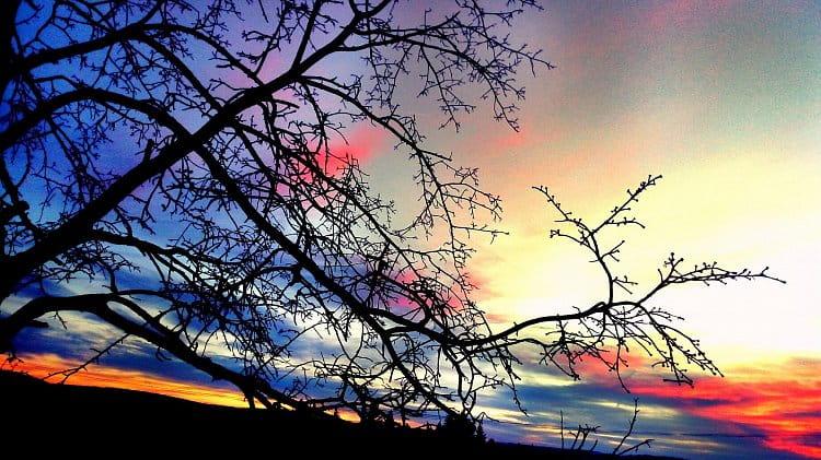Una puesta del sol encantadora