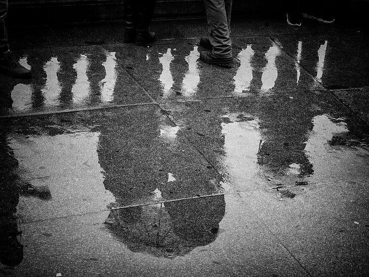 U muzea v dešti