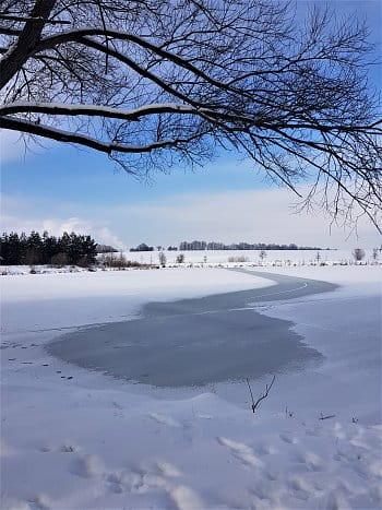 Středokluky zima